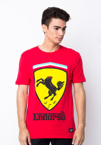 END-PB016/TSHIRT-WL-FERRARI-RED-M