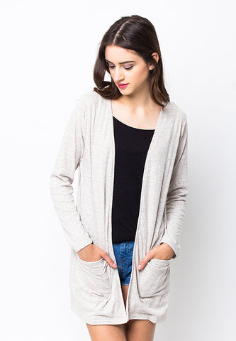 END-PB047/CARDIGAN-R-ALIZA-POCKET-CREAM-F