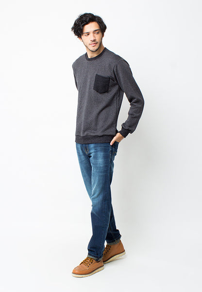 END-PC018/SWEATER-I-JORDAN-POCKET-MISTYBLACK-M