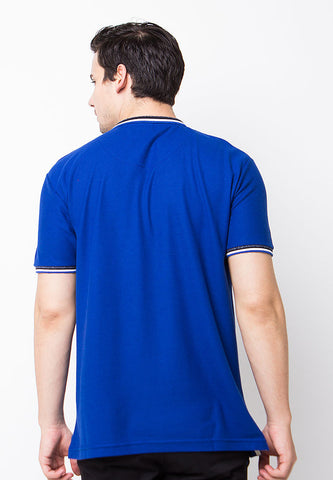 END-PE006/POLOSHIRT-E-LOGO-ST-ROYALBLUE-M