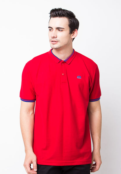 END-PE008/POLOSHIRT-E-LOGO-ST-RED-M