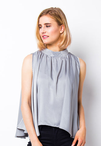 END-PE042/BLOUSE-R-CARINE-BTN-GREY-F