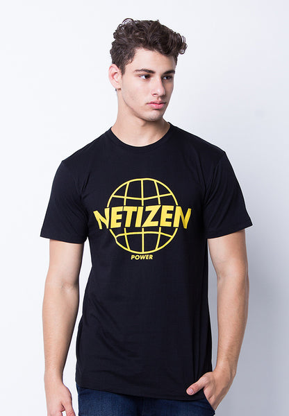 END-PE070/TSHIRT-H-NETIZEN-BLACK-M