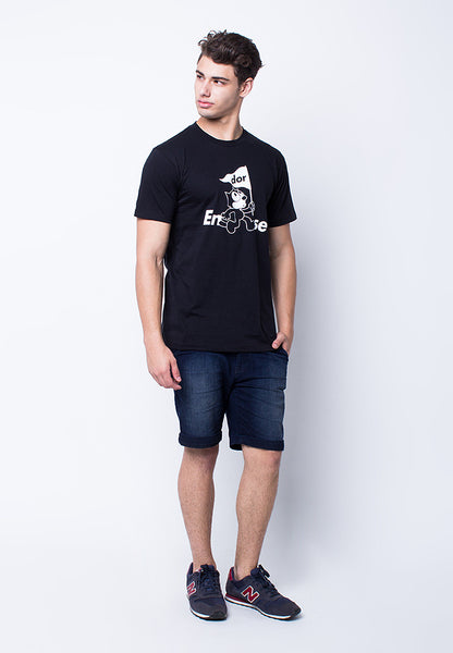 END-PE072/TSHIRT-H-FELIXFLAG-BLACK-M