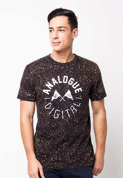 END-PF081/TSHIRT-H-ANALOGUE-BLACK-M