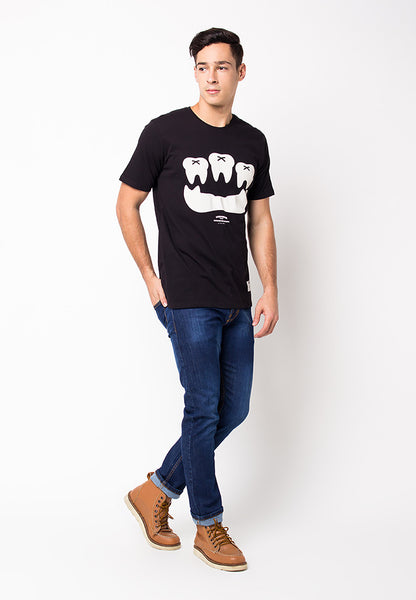 END-PF103/TSHIRT-WL-TOOTH-BLACK-M
