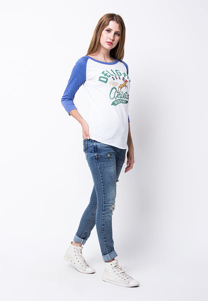 END-PF125/TSHIRT H RG DELIGHT DEER BLUE WHITE-F