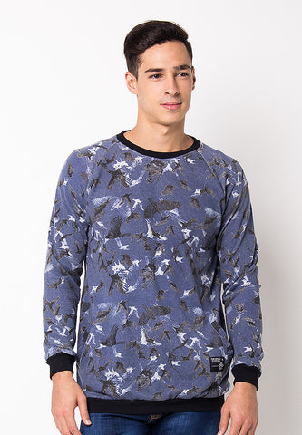 END-PG028/SWEATER-BN-MOZAIK-FP-BLUE-M