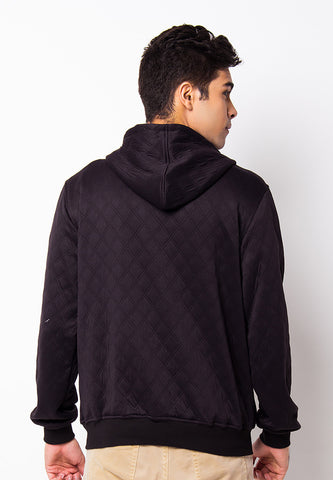 END-PH011/JACKET-I-ZIPPER-BLACK-QUILTED-M