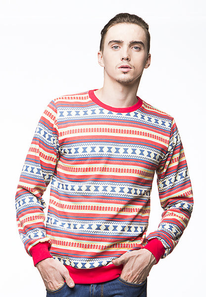 END-PI003/SWEATER-I-THEO-NAVAJO-RED-M