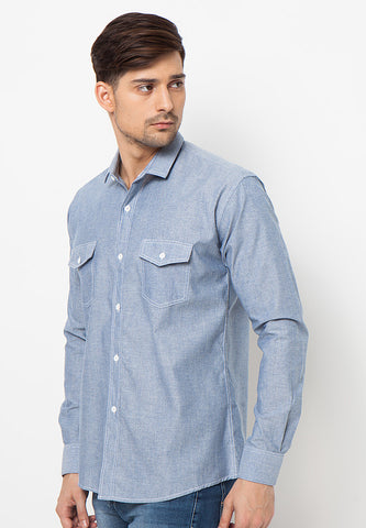 END-PJ010/SHIRT-LS-BN-CHAM-ZAMIR-BLUE-M