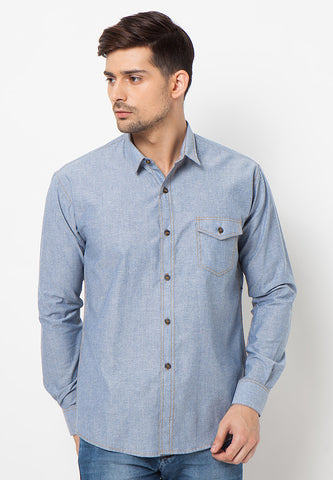 END-PJ011/SHIRT-LS-BN-CHAM-ZAMIR-02-BLUE-M