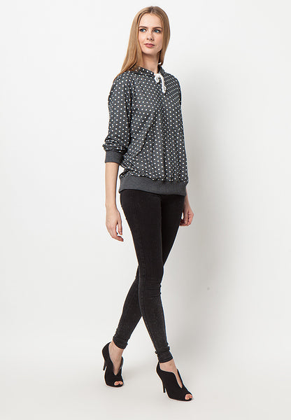 END-PK005/SWEATER-R-ROSALIE-POLKA-M.GREY-F