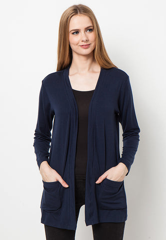 END-PK006/CARDIGAN-R-MILLICENT-SK-NAVY-F