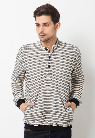 END-PL002/SWEATER-BN-JAYDEN-ST.LINE-BLACKWHITE-M
