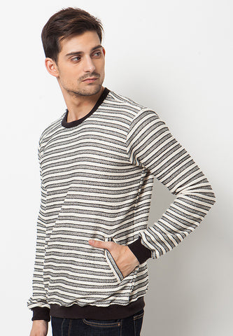 END-PL003/SWEATER-BN-WAYNE-ST.LINE-BLACKWHITE-M
