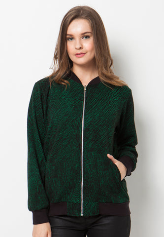 END-PL009/JACKET-R-HARRIET-MTF-BLACKGREEN-F