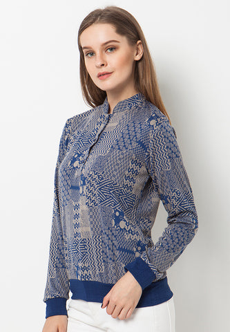 END-QA006/SWEATER-R-ISIA-MOTIF-BLUE-F