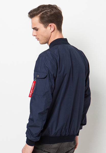 END-QA008/JACKET-I-BOMBER-BEWARE-BDR-NAVY-M