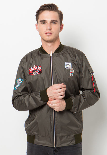 END-QA009/JACKET-I-BOMBER-SHOW-BDR-ARMY-M
