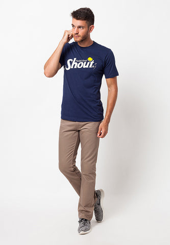 END-QA017/TSHIRT-WL-SHOUT-DARKBLUE-M