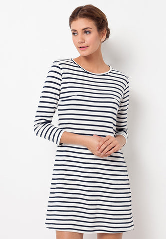 END-QB004/DRESS-R-AMELIA-STRIPE-WHITE-F