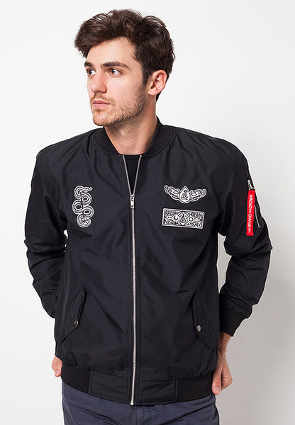 END-QC004/JACKET-I-BOMBER-JAMES-BDR-BLACK-M