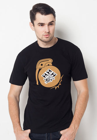 END-QF006/TSHIRT-E-GRENADE-BLACK-M