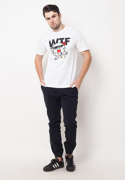 END-QF016/TSHIRT-E-WTF-WHITE-M
