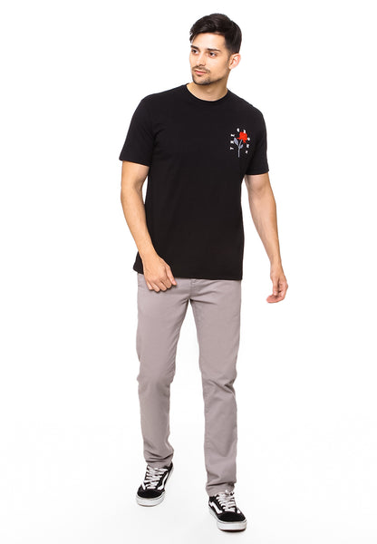 END-QK001/TSHIRT- E-CROWNEDROSES-BLACK-M