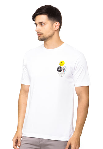 END-QK004/TSHIRT-E-BUTTONPIN-WHITE-M
