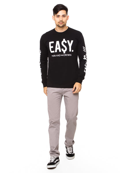 END-QK005/TSHIRT-E-LS-EASY-BLACK-M