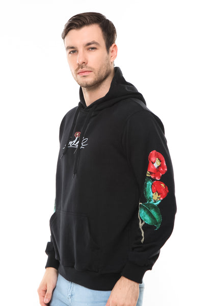 END-RD003/SWEATER-E-HOODIE-ROSES-BLACK/M