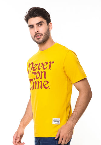 END-RE006/TSHIRT-SYN-NEVERONTIME-YELLOW-M