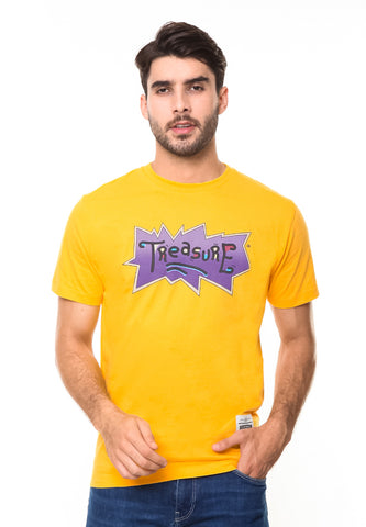 END-RE007/TSHIRT-SYN-TREASURE-YELLOW-M