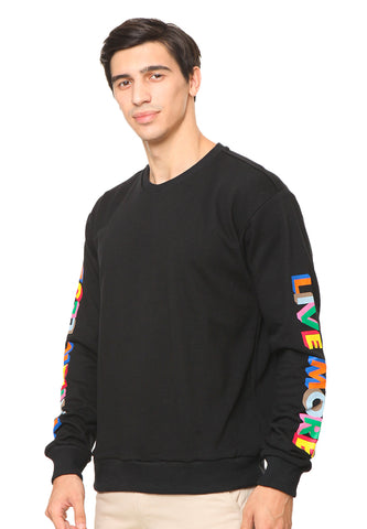 END-RF022 / SWEATSHIRT INO FIRE BLACK M
