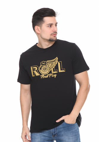 END-RF042/TSHIRT SYN ROLLANDPLAY BLACK M