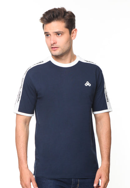 END-RG006/TSHIRT SYN NDRS STRIPE NAVY-M
