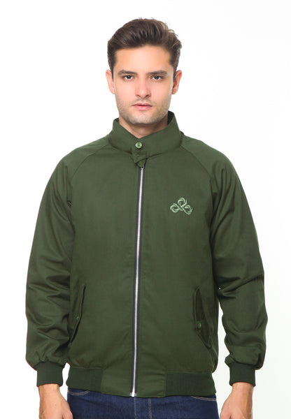 END-RH006/JACKET I HARRINGTON ARMY GREEN-M
