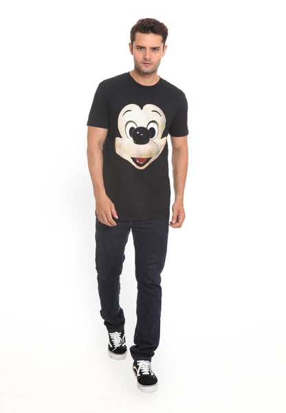 END-RI008/TSHIRT H MICKEY FACE BLACK M