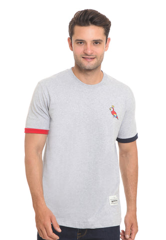 END-RI011/TSHIRT E PARROT MISTY GREY M