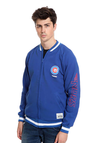 END-RJ005 / JACKET E BASEBALL ZIPPER NDRS COLD BLUE M