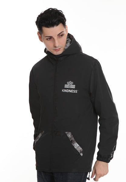 END-RK027/JACKET JJ KINDNESS BLACK M