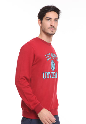 END-SD007/SWEATER H DELIGHT UNIVERSITY MAROON M
