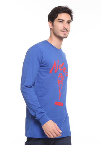 END-SD012/TSHIRT H LS JKT CITY BLUE M