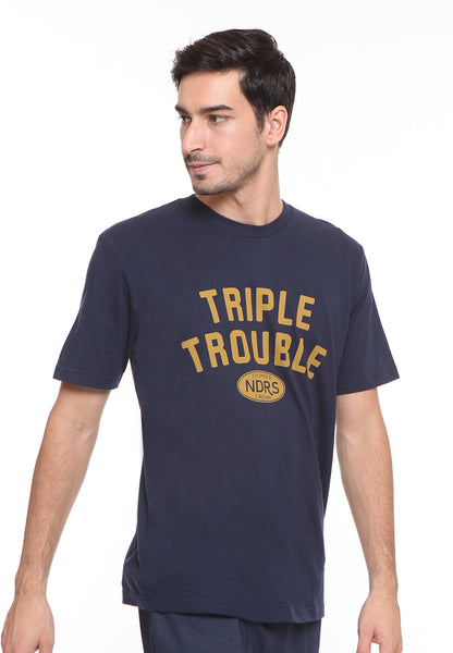 END-SE008 / ENDORSE TSHIRT E TRIPLE TROUBLE NAVY BLUE M