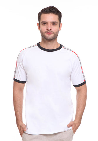 END-SF004/ENDORSE TSHIRT E NDRS STRIPES WHITE M