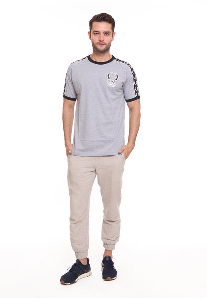 END-SF005/ENDORSE TSHIRT E THUNDER STRIPES MISTYGRY M