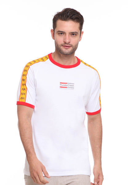 END-SF006/ENDORSE TSHIRT E THUNDER CROWN STRIPE YELLOW M