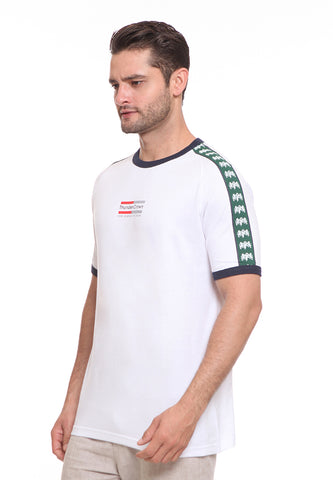 END-SF007/ENDORSE TSHIRT E THUNDER CROWN STRIPE GREEN M